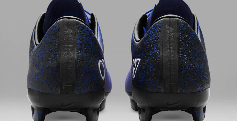 18da3b51f931a ... first Nike Mercurial Cristiano Ronaldo boots are shimmery blue with  classy silver accents
