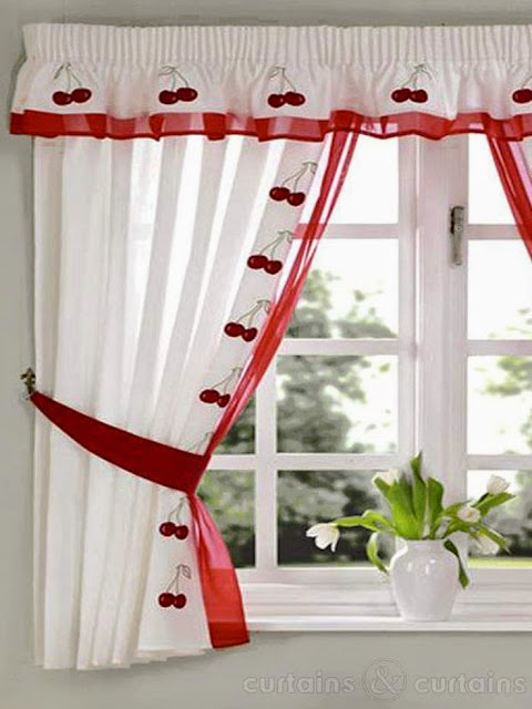 Elegant Kitchen Curtains 1