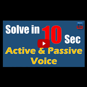 Active & Passive Voice | Solve In 10 Seconds | English | All Competitive Exams