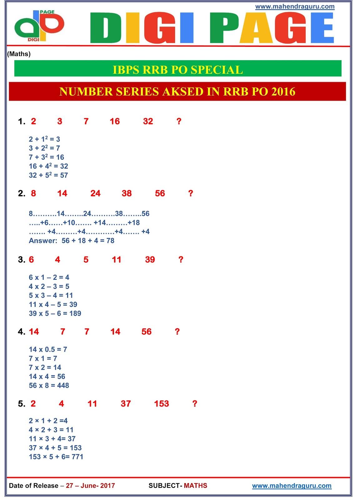 Numbers Serie
