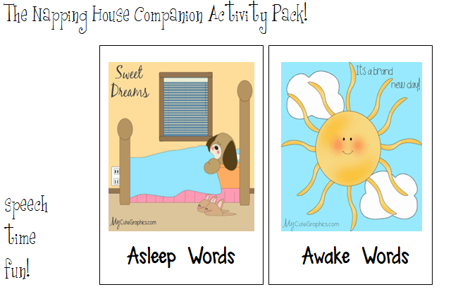 The Napping House: Companion Activity Pack! - Speech Time Fun