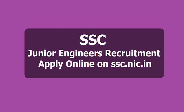 SSC JE Junior Engineers Recruitment