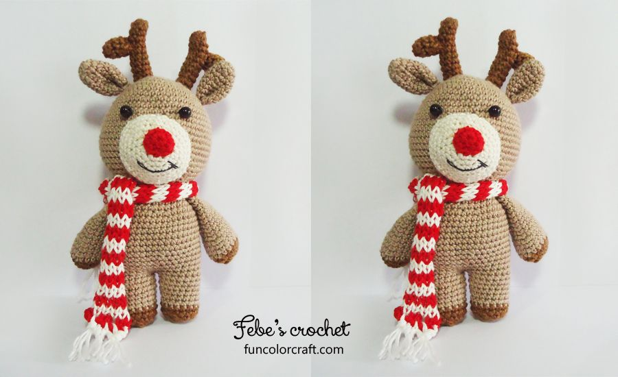 Reindeer Christmas Amigurumi Crochet Pattern Free - Funcolor Craft