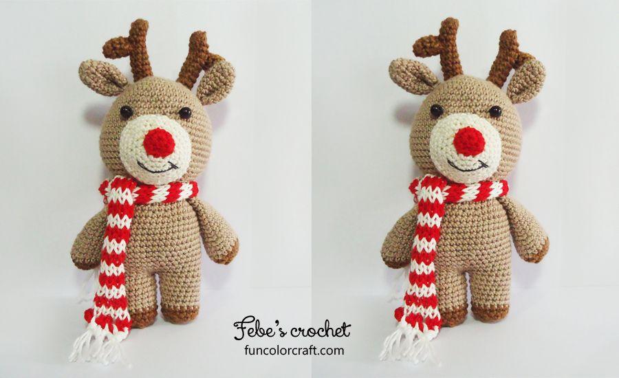Reindeer Christmas Amigurumi Crochet Pattern Free Funcolor Craft