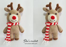 Amigurumi Reindeer Free Pattern : Reindeer christmas amigurumi crochet pattern free funcolor craft