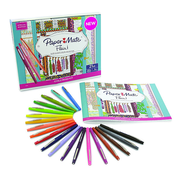 Amazon: 20-pack Prismacolor Paper Mate Flair Felt Tip Pens and a CLOSET coloring book only $12 (reg $30)!