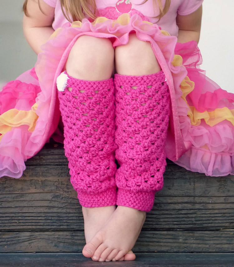 Domestic Bliss Squared: Girly Crochet Leg Warmers (A Free Beginner ...