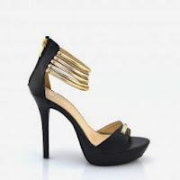Sandale negre cu toc inalt