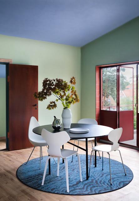 Renovierung vom Poul Henningsen Haus: urbanes Wohnen Leben mit Retro Design Charme