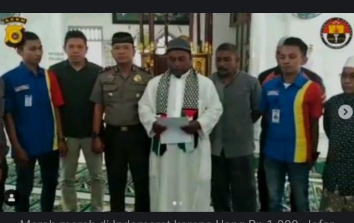 Diberikan Sumbangan Rp 1000 Donasi Ke Palestina Ketua Remaja Masjid Al Khalifah Ibrahim, Matangkuli, Aceh Utara Rusak Fasilitas Indomaret