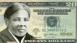 Billete con el rostro de Harriet Tubman