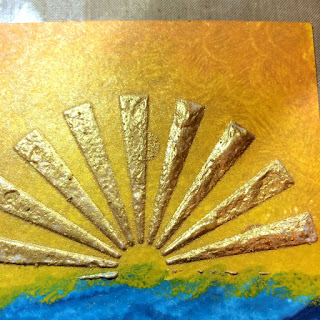 mixed_media_sunburst_with_texture_paste_perfect_pearls