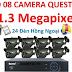 Trọn bộ 8 camera AHD Questek QTX-1312AHD 1.3 Mpx