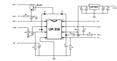 RF amplifier protection circuit diagram