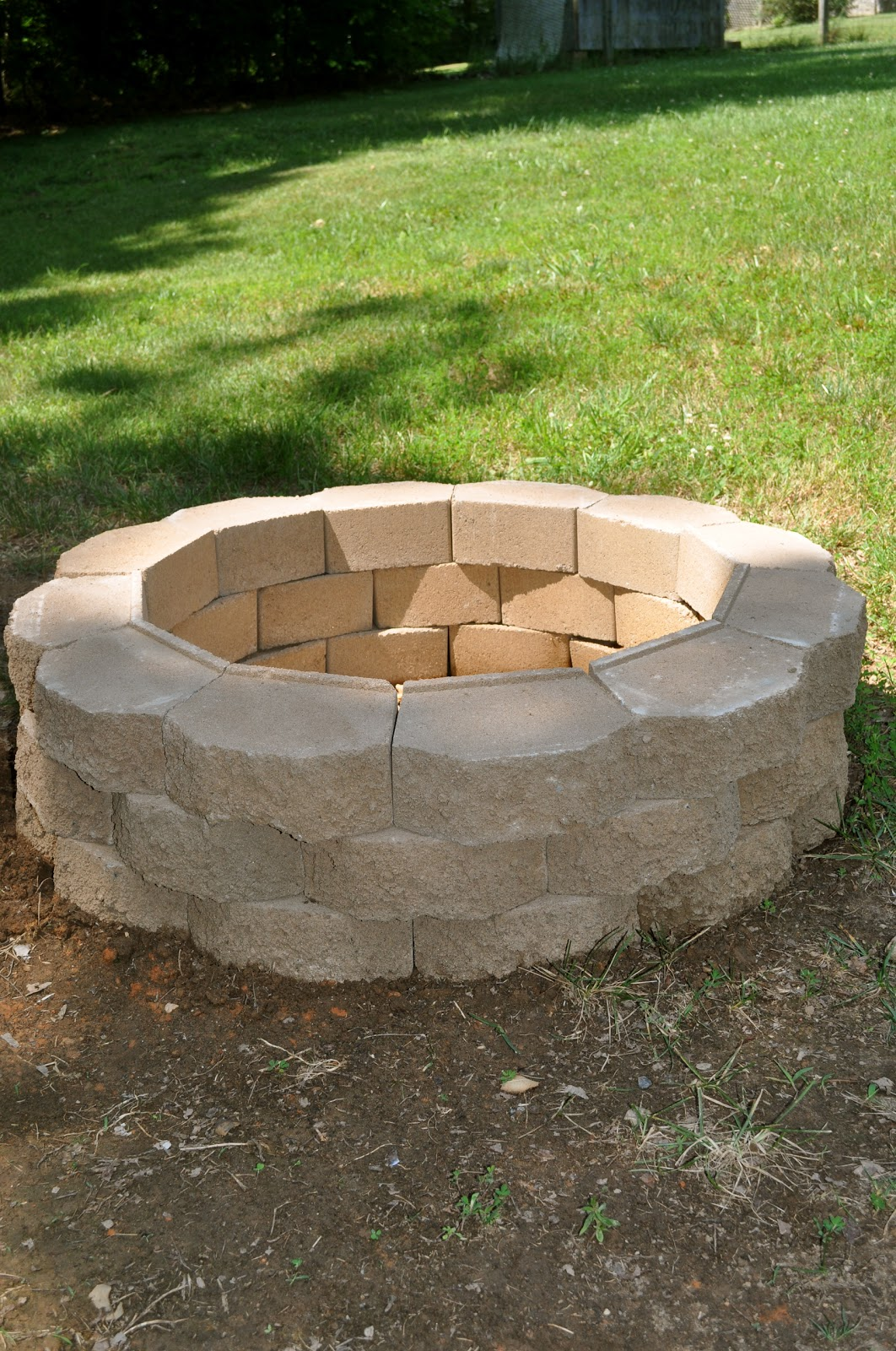 Salty tales diy fire pit - Small backyard fire pit ideas ...