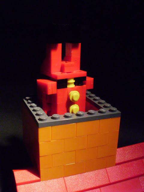 MOC LEGO O Pai Natal está a chegar...vem já a descer pela chaminé!