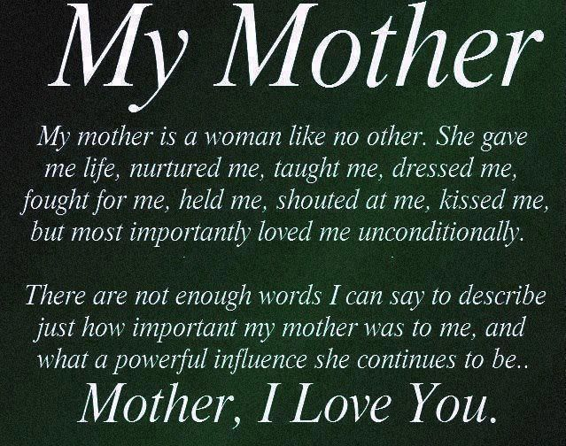 Loss of mother inspirational quotes poem from daughter son to Mom