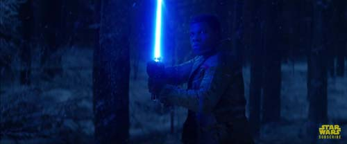 John Boyega as Finn in Star Wars: The Force Awakens Trailer