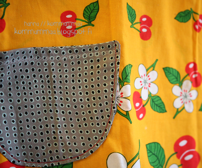 mekko a-linjainen mekkotehdas puuvilla kierrätys retro pöytäliina