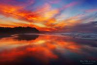 Atardecer en la playa de Sopelana