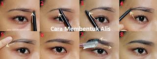 cara membentuk alis mata dengan pensil alis