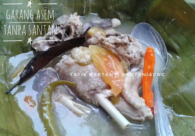Resep Ayam Kampung Garang Asem di Butania.com