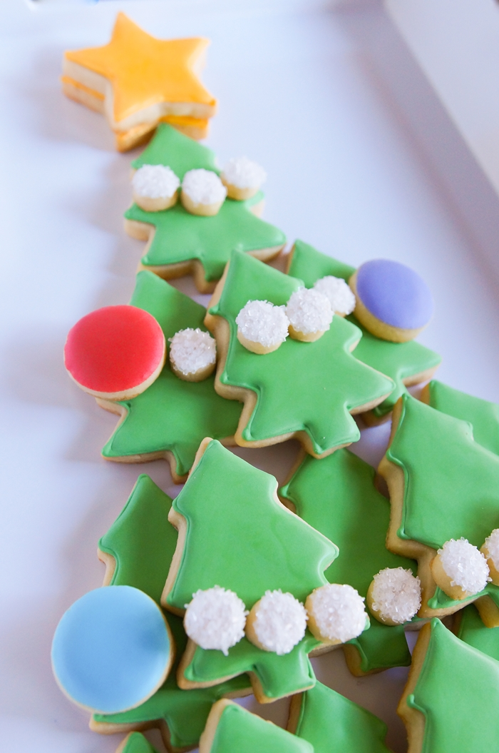 how to make a Christmas Tree Cookie Platter