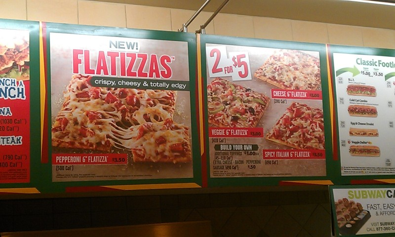 news subway new flatizzas