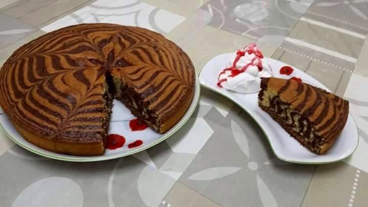 Recette Gâteau tigré ou zébré