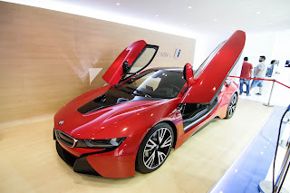 BMW i8 looked like a space ship landing from the future.