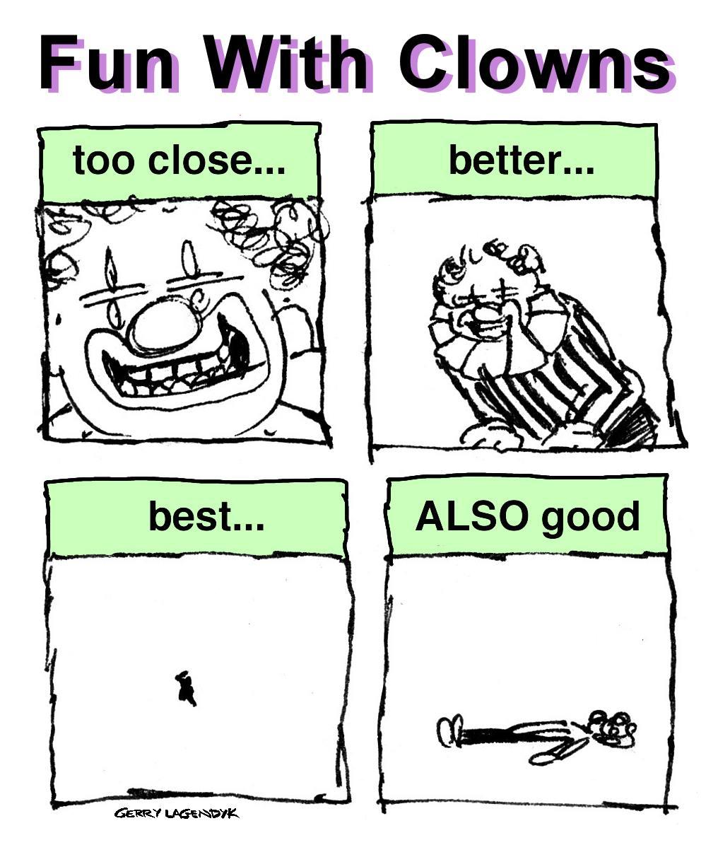 fun with clowns, circus clown cartoon, clowns are not funny