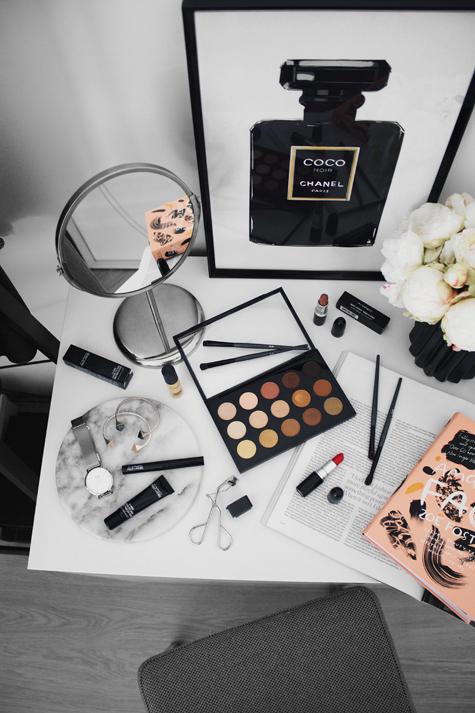 Lion in the Wild, Kiara King, MAC makeup flat lay, beauty blogger