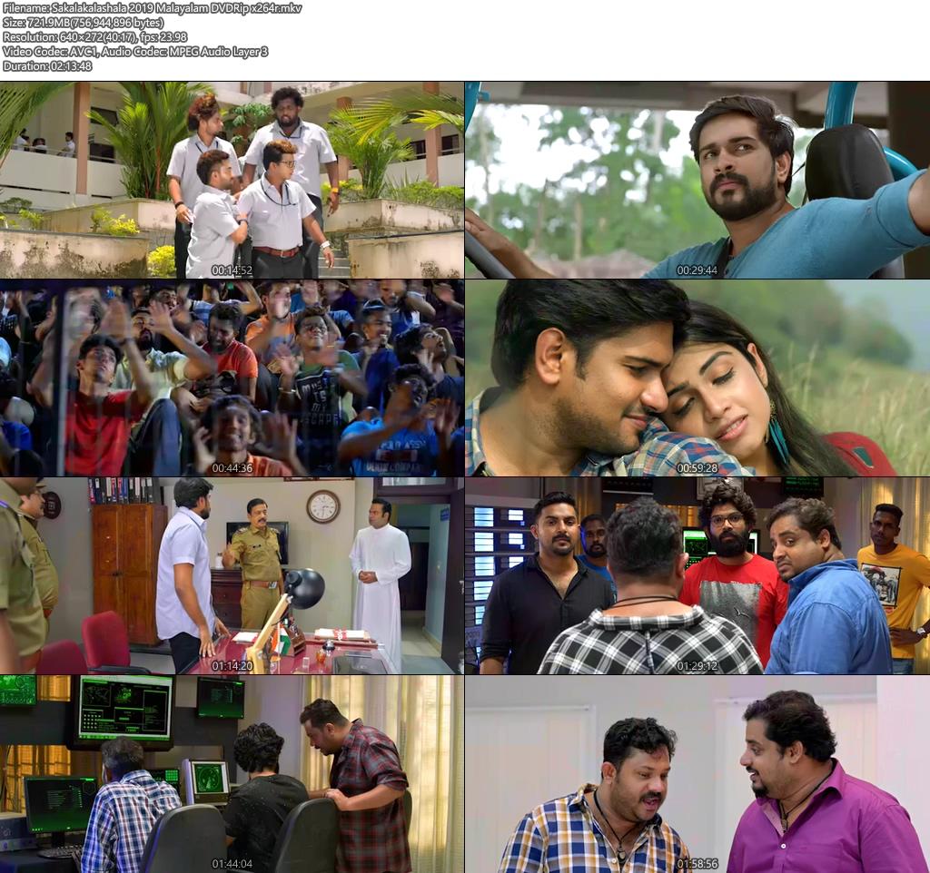 Sakalakalashala 2019 Malayalam DVDRip x264   480p 300MB   100MB HEVC Screenshot