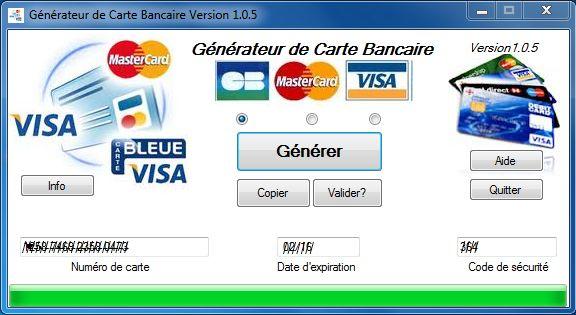 BANCAIRE TÉLÉCHARGER GENERATEUR DE CARTE