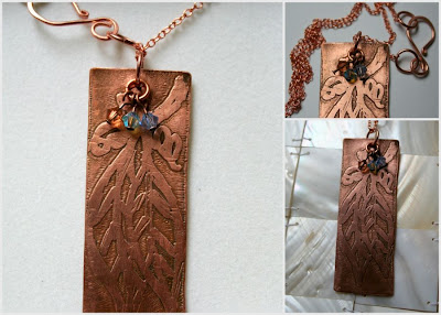 Family (copper, Swarovski) ooak necklace:: All Pretty Things