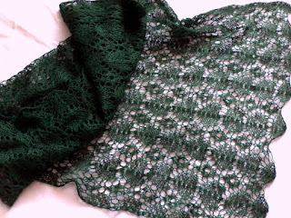 Zielony szal