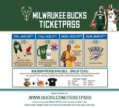 milwaukee bucks ticket discounts, discounted milwaukee bucks tickets