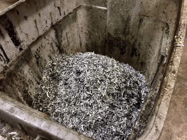 scrap metal from haas cnc machine