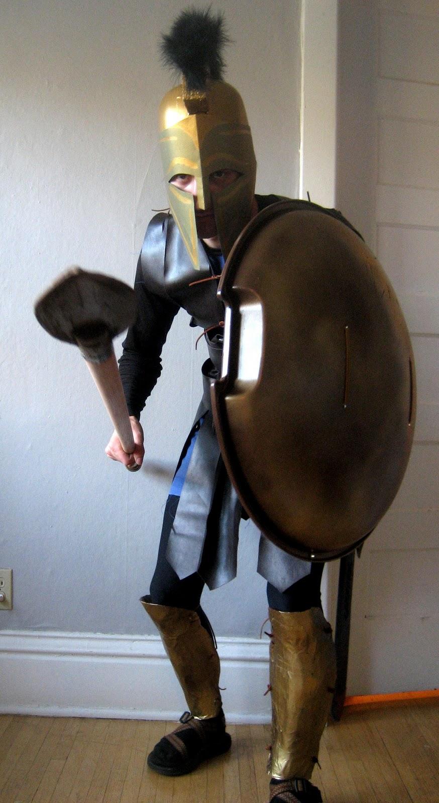 & Chuck Does Art: DIY Spartan Hoplite Costume: How to Make a Spear (Dory)