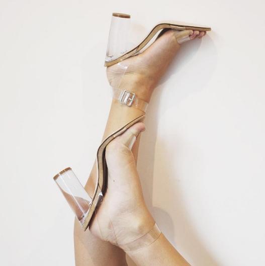 Transparencias en ropa y calzado