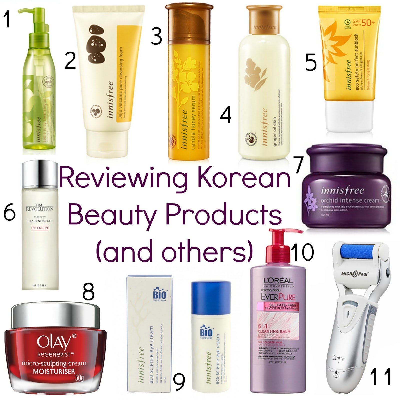 korean beauty products review, emjoi micro pedi review, L'Oreal EverPure Cleansing Balm review, Olay Regenerist Micro Sculpting Cream review