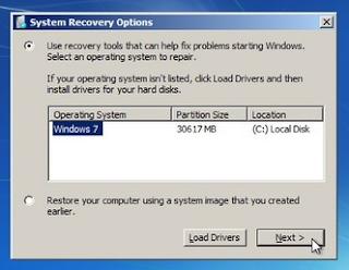 memperbaiki komputer atau laptop tidak bisa loading