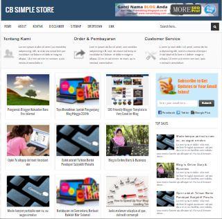 CB Simple Store - Template Blog Toko Online SEO