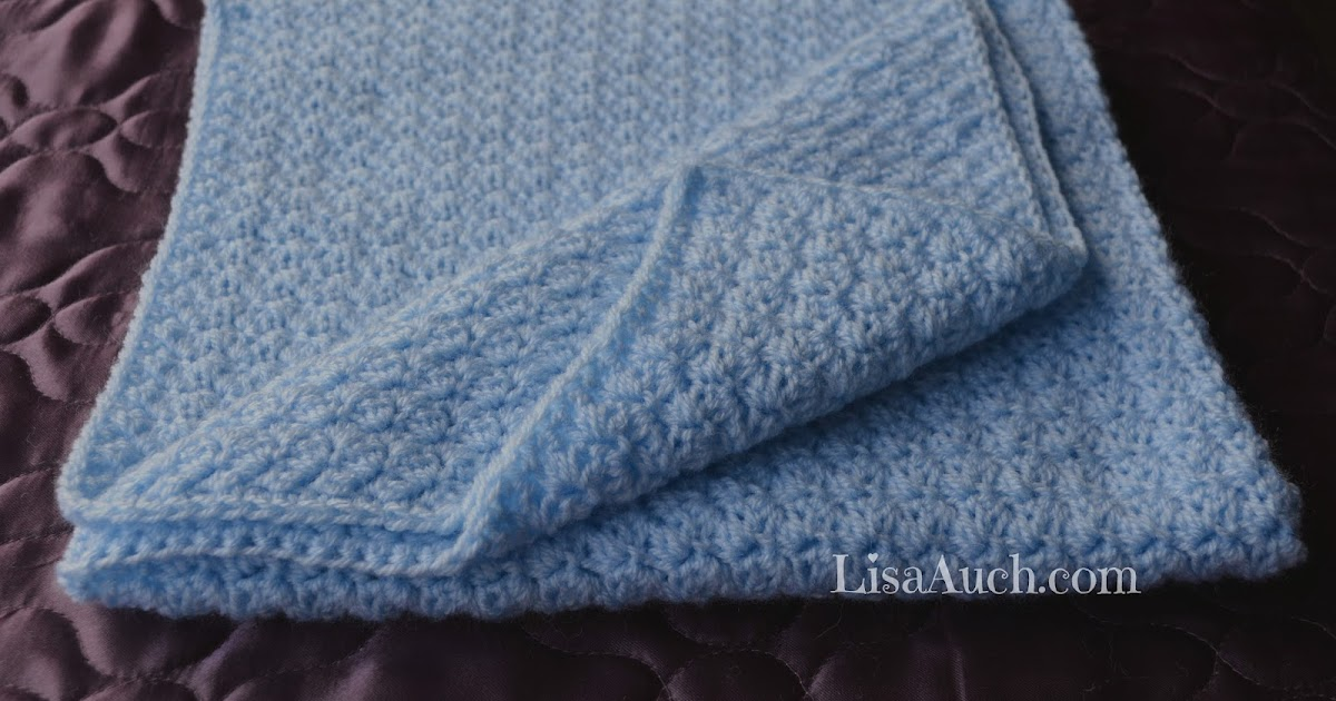 Free Crochet Patterns And Designs By Lisaauch : Easy Crochet Baby Blanket Pattern, FREE Crochet Pattern ...