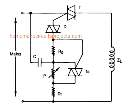 improved triac circuit for handling heavy inductive loads