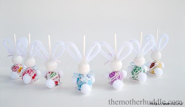 для детей, зайцы, из конфет, из чупа-чупсов, подарки из конфет, подарки на Пасху, подарки сладкие, упаковка конфет, упаковка на Хэллоуин, упаковка сладостей, Хэллоуин, сюрприз из конфет, подарки из конфет своими руками, мастер-класс, зайчик, чупа-чупс, воими руками,