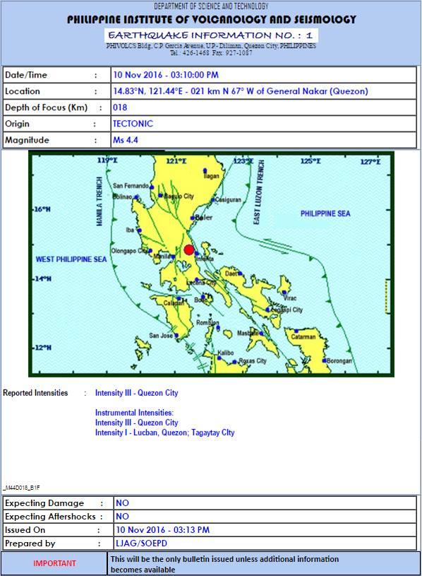 BREAKING NEWS: Earthquake hits Metro Manila!