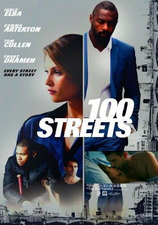 Poster of 100 Streets 2016 Full Movie HDRip 720p English 700Mb