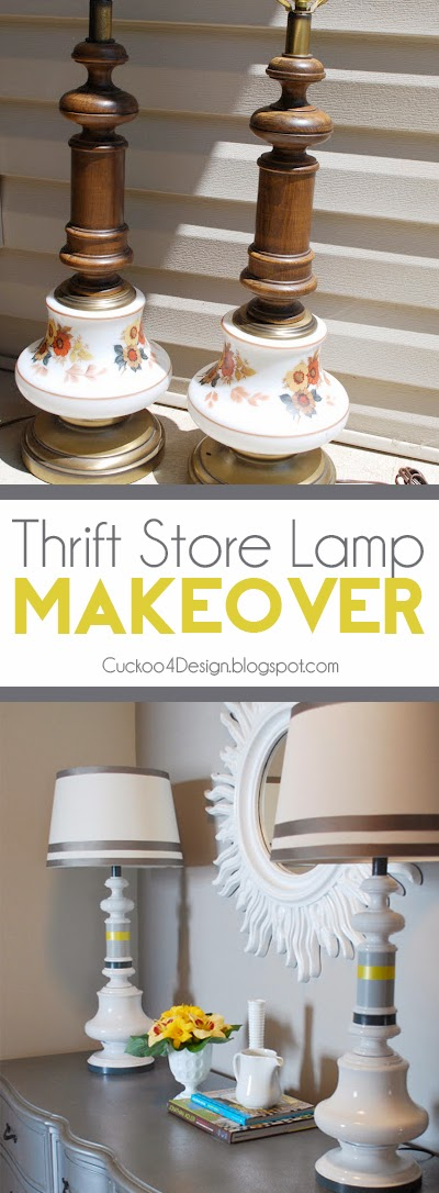 Ugly thrift store lamp makeover