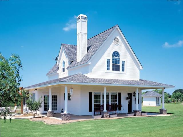 projekt domu z werandą  w stylu amerykańskim